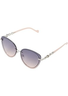 Jessica Simpson 63 mm Rimless UV Protective Cat-Eye Metal Bracelet Arm Sunglasses