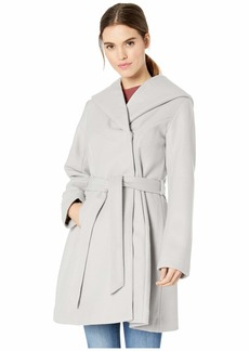 Jessica Simpson Belted Wool Coat w/ Oversized Hood