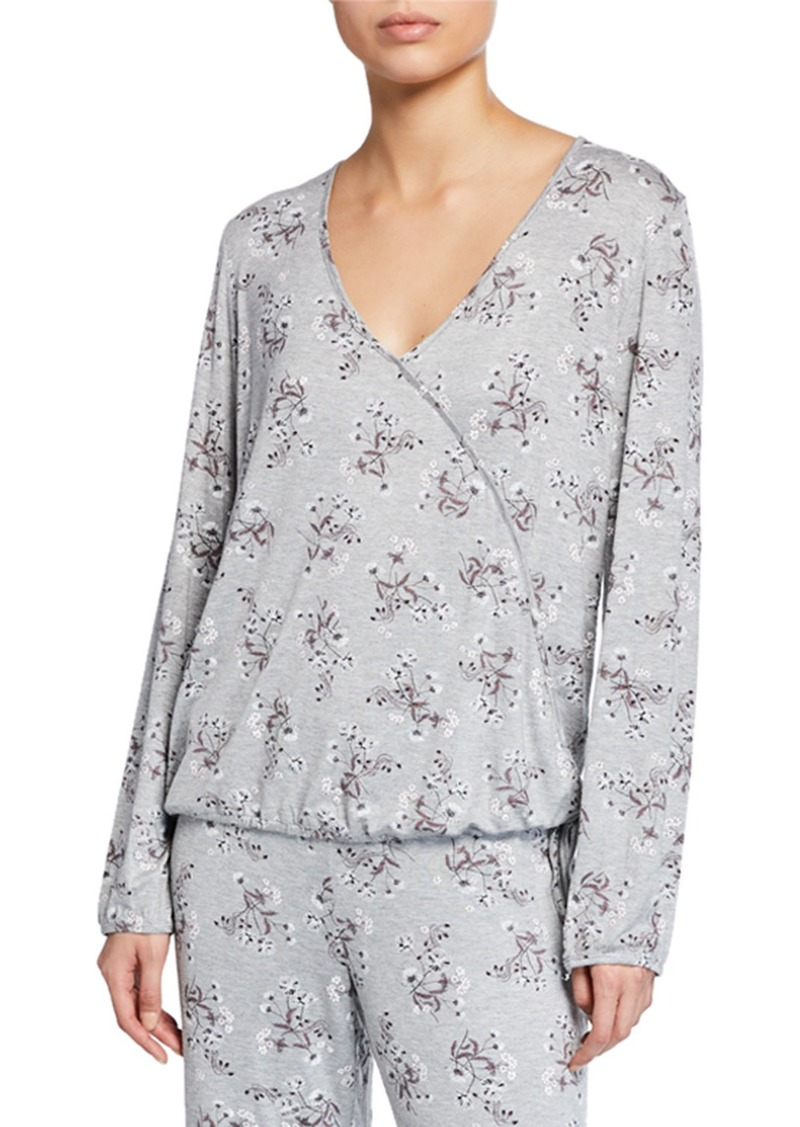 Jessica Simpson Dancing in the Moonlight Floral Wrap Top