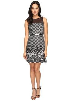 Jessica Simpson Diamond Bonded Lace Dress
