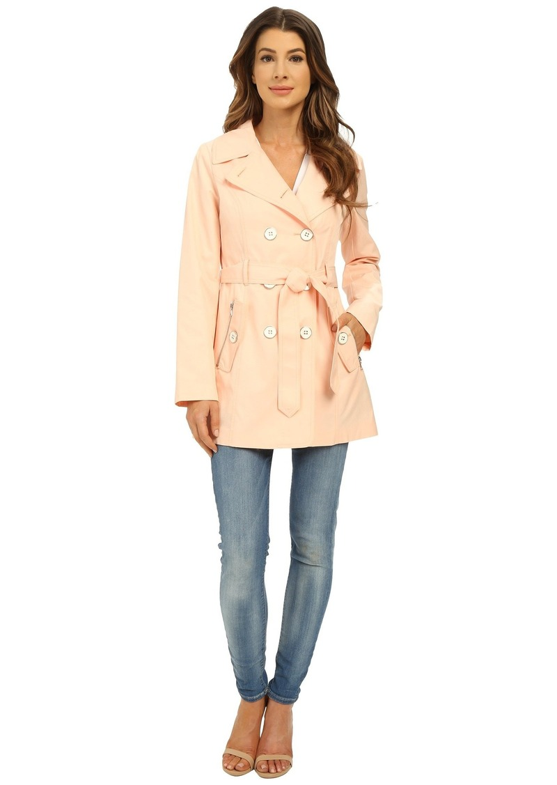 Jessica Simpson Double Breasted Belted Trench