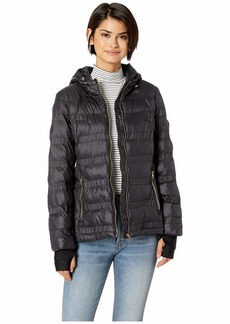 Jessica Simpson Horizontal Puffer w/ Zip-Up High Neck