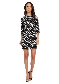 Jessica Simpson 3/4 Ity Printed Dress with Cut Out Details