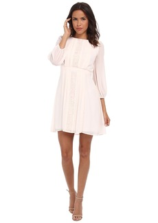 Jessica Simpson 3/4 Sleeve Chiffon Dress