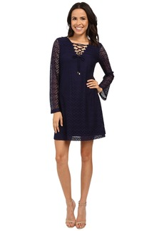 Jessica Simpson 3/4 Sleeve Lace Shift Dress JS6D8546