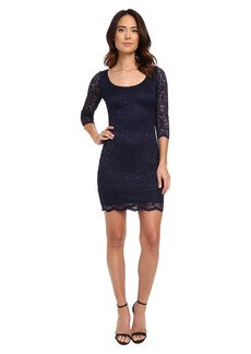 Jessica Simpson 3/4 Sleeve Metallic Lace Dress