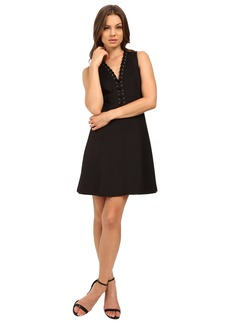 Jessica Simpson A-Line Dress with Lace-Up V-Neck Detail JS6D8658