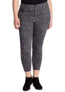 Jessica Simpson Adored Plus Size Animal-Print Skinny Jeans