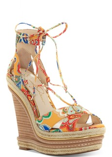 Jessica Simpson Adyson Lace-Up Wedge Sandals Women's Shoes