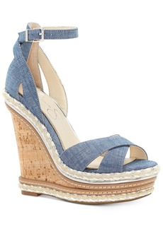 Jessica Simpson Ahnika Ankle-Strap Wedge Pumps Women's Shoes