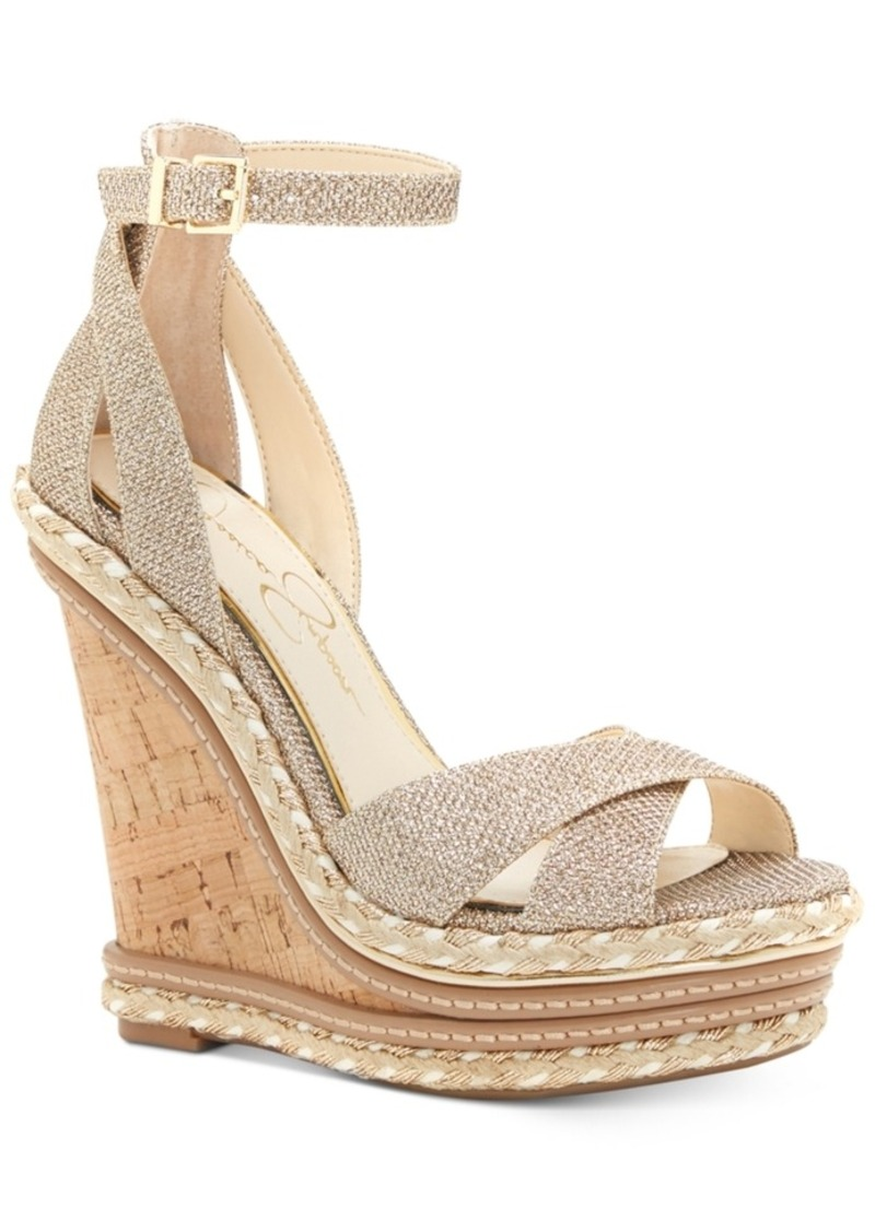 6012cd4d74 Jessica Simpson Jessica Simpson Ahnika Ankle-Strap Wedge Sandals ...