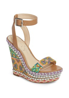 Jessica Simpson Alinda Embellished Wedge Sandal (Women)