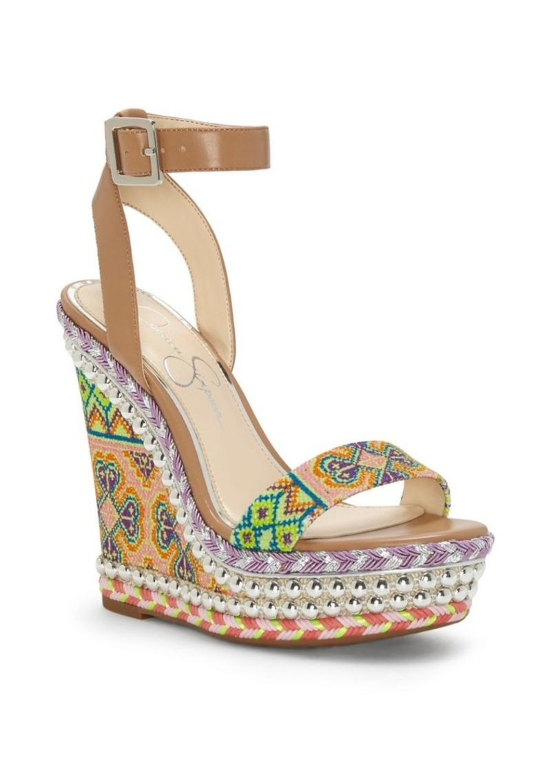 afbda50f83b Alinda Textured Wedge Sandals