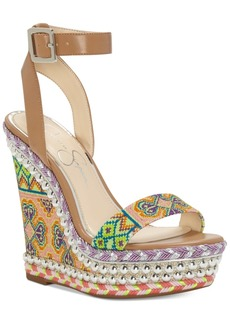 Jessica Simpson Alinda Woven Platform Wedge Sandals Women's Shoes