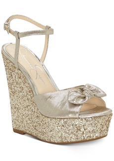 Jessica Simpson Amella Bow Wedge Sandals Women's Shoes