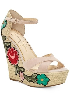 Jessica Simpson Apella Patch Wedge Sandals Women's Shoes