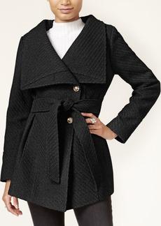 Jessica Simpson Asymmetrical Belted Walker Coat