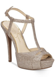 Jessica Simpson Barretta T-Strap Platform Dress Sandals Women's Shoes