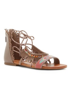 Jessica Simpson Beaded & Fringed Leather Sandals