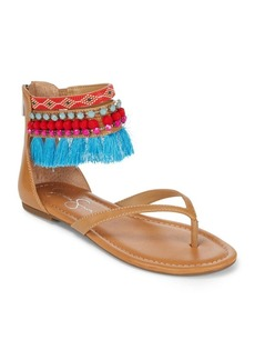 Jessica Simpson Beaded Ankle-Strap Sandals