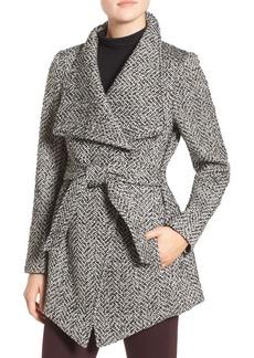 Jessica Simpson Belted Tweed Coat