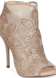 Jessica Simpson Bliths Floral & Mesh Peep-Toe Ankle Booties Women's Shoes