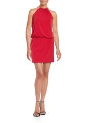 Jessica Simpson Blouson Halterneck Dress