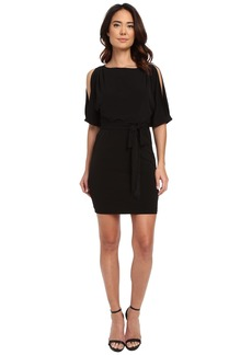 Jessica Simpson Boat Neck Ity Dress with Self Sash