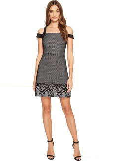 Jessica Simpson Border Deco Bonded Lace Dress