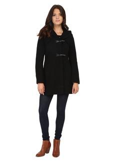 Jessica Simpson Braided Wool Duffle Coat with Hood