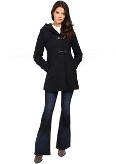 Braided Wool Duffle Coat with Hood