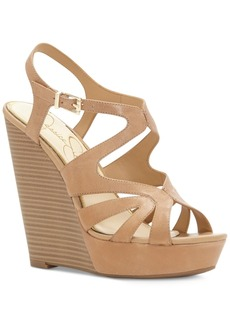 Jessica Simpson Brissah Strappy Platform Wedge Sandals Women's Shoes