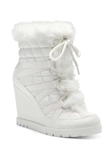 Jessica Simpson Brixel Lace-Up Boot with Faux Fur Trim (Women)