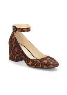 Jessica Simpson Calf Hair Ankle Strap Pumps