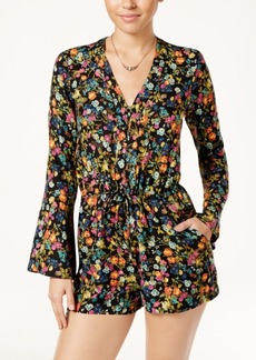 Jessica Simpson Cambrea Printed Bell-Sleeve Romper
