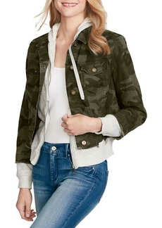 Jessica Simpson Camouflage Twofer Jacket