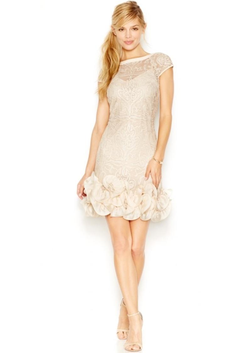 Jessica Simpson Cap-Sleeve Ruffled Dress