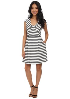 Jessica Simpson Cap Sleeve Stripe Fit & Flare Dress JS5M7039