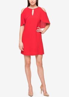 Jessica Simpson Capelet Cold-Shoulder Dress
