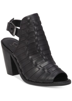 Jessica Simpson Celinna Peep-Toe Booties Women's Shoes