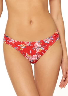 Jessica Simpson Chantilly Lace Printed Shirred Hipster Bikini Bottoms Women's Swimsuit