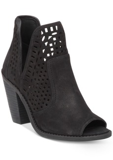Jessica Simpson Cherrell Cutout Peep-Toe Ankle Booties Women's Shoes