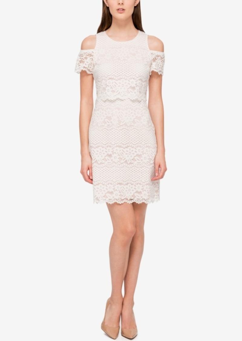 Jessica simpson jessica simpson lace cold shoulder sheath dress jessica simpson lace cold shoulder sheath dress ombrellifo Gallery