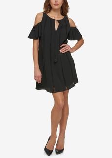 Jessica Simpson Cold-Shoulder Peasant Dress