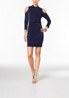 Jessica Simpson Cold-Shoulder Sheath Dress