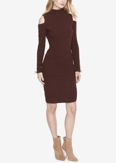 Jessica Simpson Cold-Shoulder Sweater Dress