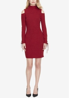 Jessica Simpson Cold-Shoulder Sweater Dress