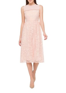 Jessica Simpson Collared Midi Lace Dress