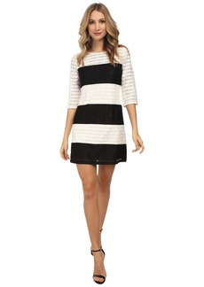 Jessica Simpson Color Block Lace Shift Dress JS5M7050