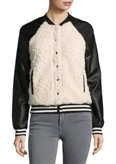 Jessica Simpson Cosette Faux Fur Paneled Bomber Jacket